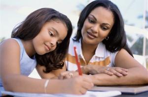 mother daughter homework